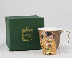 Porcelánový hrnek G. Klimt - Polibek 200 ml