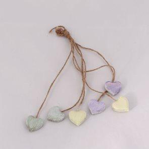 Svazek dekorativní srdcí - barevné
