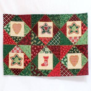 Gobelínové prostírání Vánoční patchwork