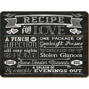 Korkové prostírání Recipe for Love velké 4ks
