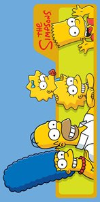 Osuška Jerry Fabrics Simpsons family bavlna-froté 75x150 cm