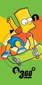 Plážová osuška The Simpsons Bart 75x150 cm, 2015