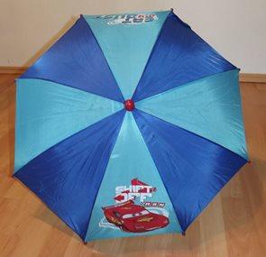 Dětský dešník Cars modrý 65 cm