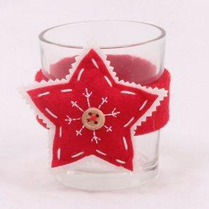 Svícen s hvězdou červený