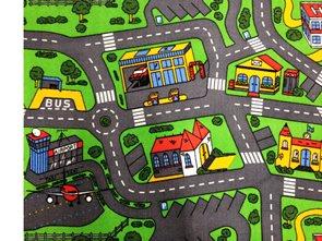 Dětský koberec City Life kulatý  průměr 160 cm