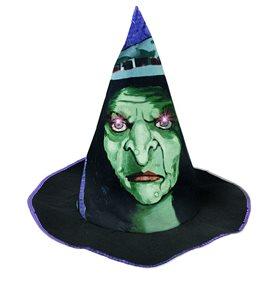 Kloubouk Halloween se zvukem a světlem