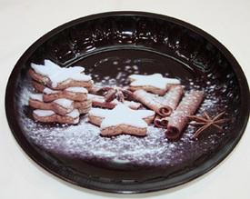 Plechový tác Sladké vánoce 26 cm