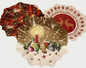 Sada vánočních talířů Hvězda 3 ks