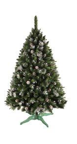 Umělý vánoční stromek Borovice stříbrný brokát 220 cm