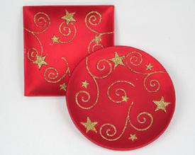 Dekorační keramický talíř Hvězdy 15 cm