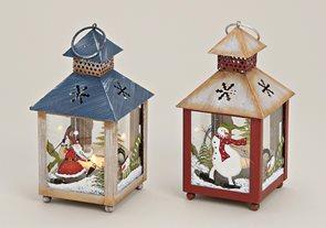 Vánoční lucerna Skřítek 20 cm