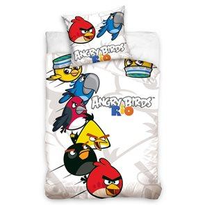 TipTrade Bavlněné povlečení Angry Birds White 140x200 70x80cm