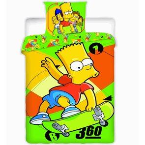 Bavlněné povlečení The Simpsons Bart Skate 140x200 70x90 cm
