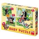 Puzzle Baby - Krtek na louce, 2-5 dílů