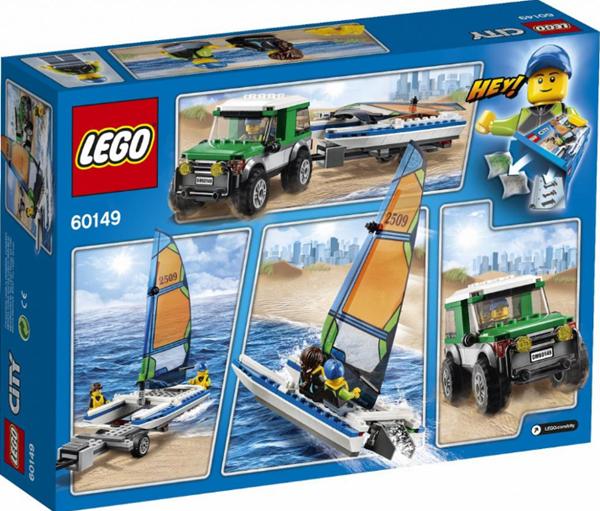 LEGO City 60149 4×4 s katamaránem