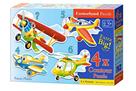 Puzzle sada 4v1- Letadla- sada 4,5,6 a 7 dílků