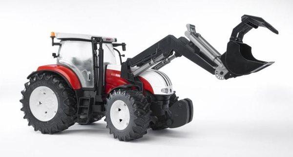 Traktor Steyr CVT 6230 s předním nakladačem BRUDER