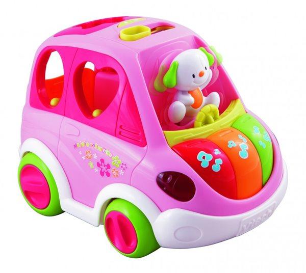 Mluvící auto vkládačka Vtech růžové
