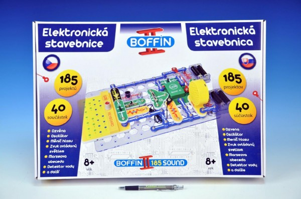 Stavebnice Boffin II. 185- elektronická/ 185 projektů/ na baterie - 40 ks, Doprava zdarma