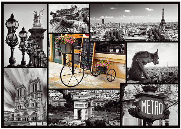 Puzzle Paříž koláž 1 000 dílků, 68×48 cm v krabici