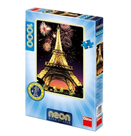 Puzzle Eiffelova věž svítící ve tmě 1000 dílků, 47× 66 cm