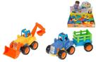 Plastový traktor / buldozer 16 cm - mix 2 druhů