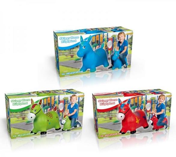 Hopsadlo zvířátko nafukovací gumové 49x 43x 28cm v krabici, mix barev