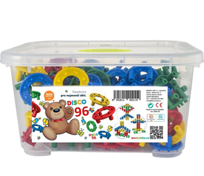 Stavebnice Disco 96 ks v plastovém boxu