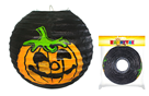 Lampion koule 25 cm s dýní Halloween vyztužený