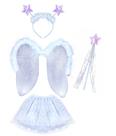 Karnevalový kostým anděl/ sněhová vločka s křídly