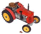 Traktor ZETOR 25A červený Kovap, kovový 15cm na klíček