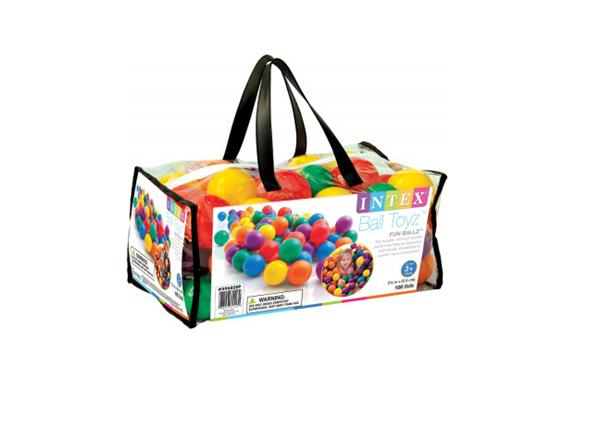 Míčky do hracích koutů 6,5cm barevné 100ks v plastové tašce od 24 měsíců