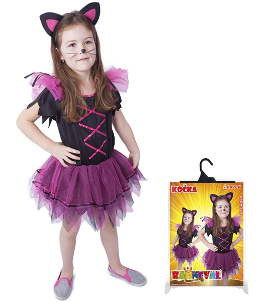 Karnevalový kostým kočka, vel. S