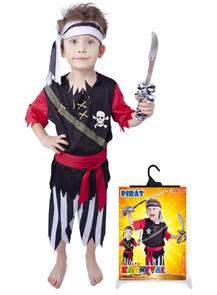 Karnevalový kostým pirát s šátkem vel. S