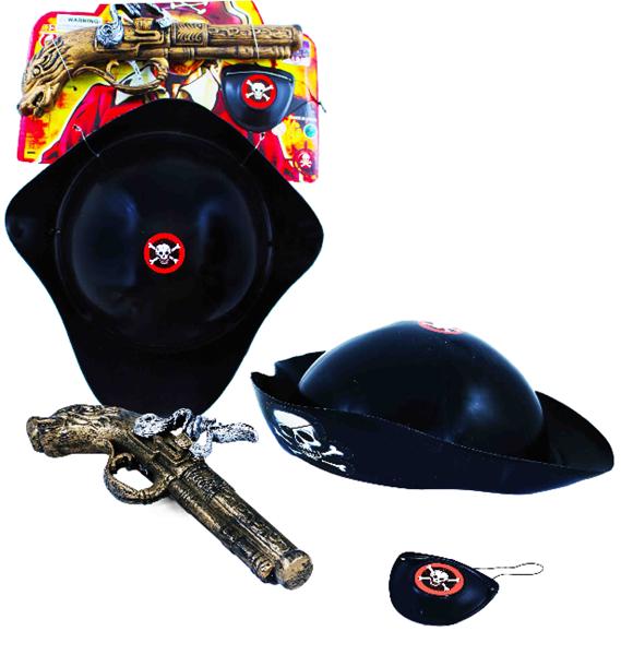Pirátská sada s pistolí na baterie