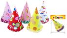 Klobouk párty barevný, 6 ks mix motivů