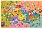 Vzdělávací puzzle mapa České republiky 44 dílků 60x40cm