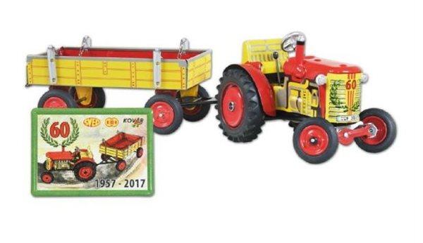 Traktor Zetor s valníkem na klíček kov 28cm Kovap, jubilejní 60, Doprava zdarma