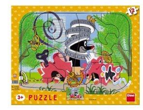 Puzzle deskové tvary Krtek opravář 12 dílků