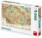 Puzzle Mapa České Republiky 47x 33cm - 500dílků