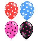 Balónek nafukovací 30 cm s potiskem 3 ks v sáčku, mix barev