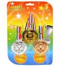Medaile 3ks plastové