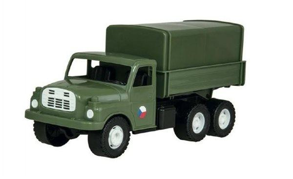 Auto nákladní Tatra 148 khaki vojenská, plastová 30cm, Sleva 17%