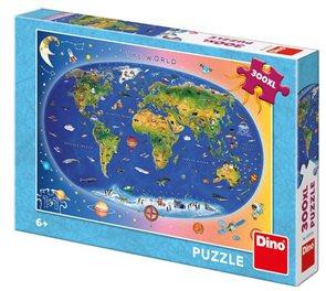Puzzle - Dětská mapa XL 300 dílků