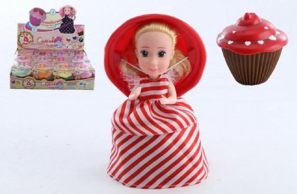 Panenka/ Cupcake 15cm vonící mix 12 motivů