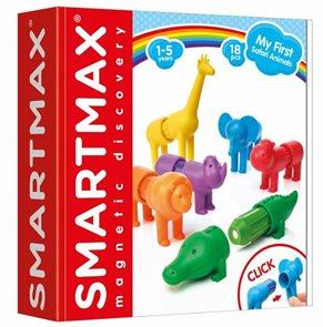 Stavebnice SmartMax - Moje první Safari zvířátka - 18 ks