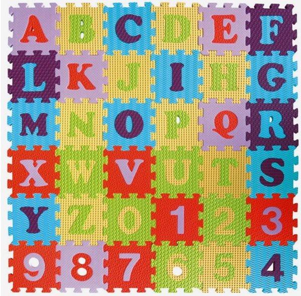 Pěnové puzzle Číslice a písmena SX (15x15), Sleva 15%