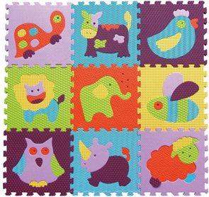 Pěnové puzzle Barevná zvířata SX (30x30)