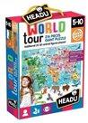 Puzzle Cesta kolem světa 216 dílků s 3D zvířátky