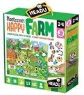 Puzzle Farma s 8 dřevěnými vkládacími figurkami (Montessori)